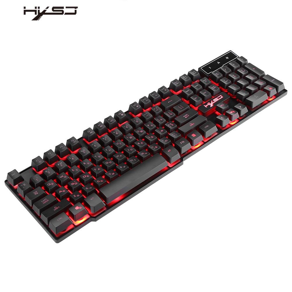 russian english 3 colors glow led usb backlit wired gaming keyboard ergonomic design for. Black Bedroom Furniture Sets. Home Design Ideas