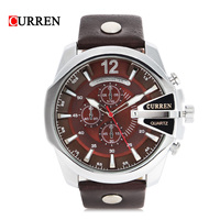 Fashion Big Dial Men CURREN Watches Top Luxury Brand Quartz Military Wrist Watch Men Clock Men
