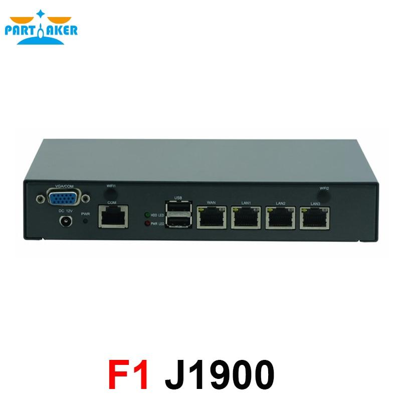 PfSense Network Server J1900 4 LAN Fanless Mini Industrial Network Server Firewall Router Security Server