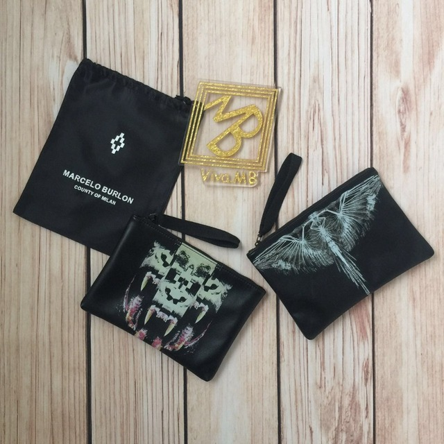 2017fw Mb Marcelo Burlon Las Tortolas Bag Pouch Antofalla 2 Models Pochette With Dustbag