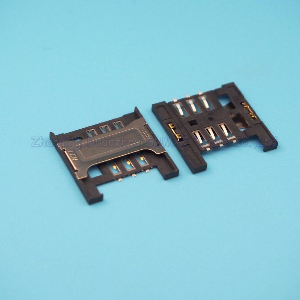 10pcs SIM card reader socket holder slot connector for ZTE V880 Lenovo A288t A336 A298T A670T etc 16.5mm*16.5mm