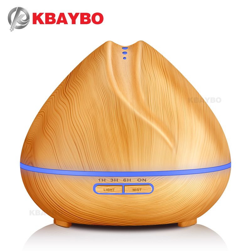 Ultrasonic Aromatherapy Humidifier Essential Oil Diffuser Air Purifier for Home Mist Maker Aroma Diffuser Fogger LED Light 400ML ultrasonic aroma diffuser portable air humidifier for home aromatherapy essential oil diffuser led mist maker fogger purifier