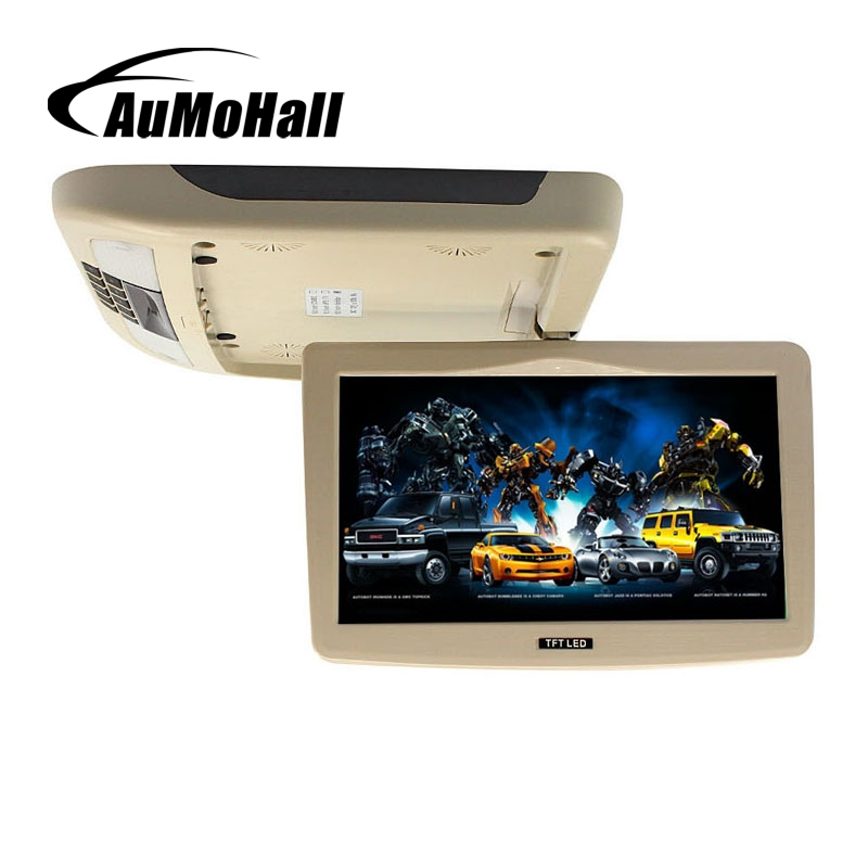 купить AuMoHall 10 Inch Car Roof Mount Monitor TFT LCD Flip Down 12V Monitors по цене 6601.91 рублей