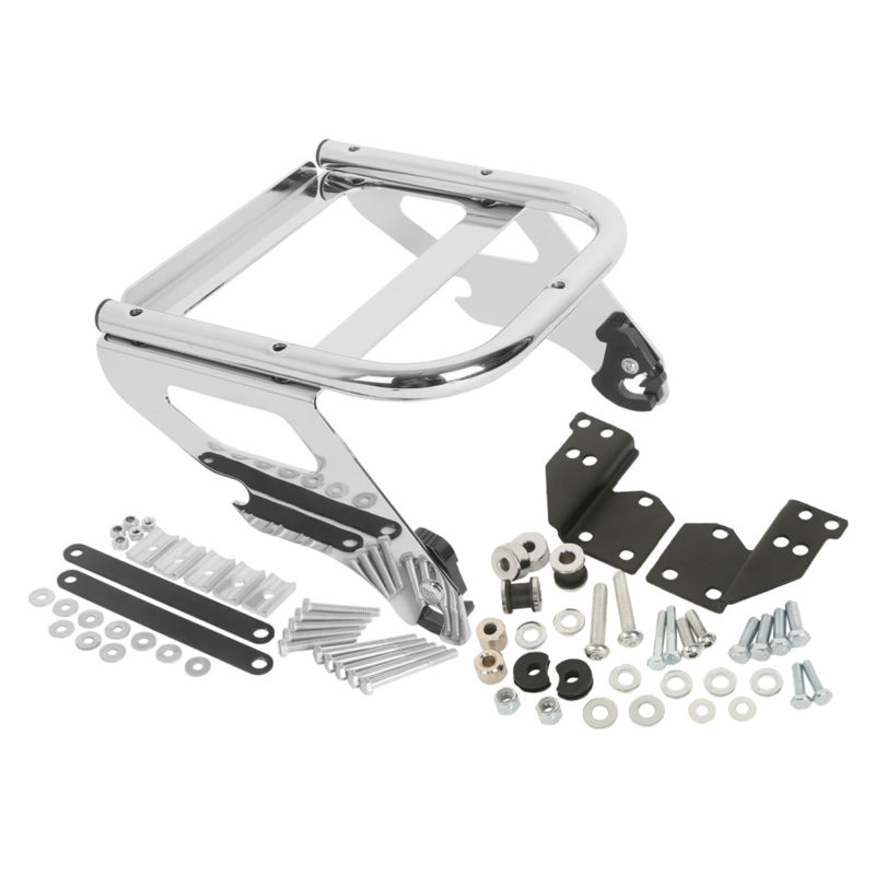 Motorcycle Moto Solo Tour Pak Rack & Docking Hardware Kit For Harley Davidson Touring Road King Electra Street Glide FLHX FLHR Harley-Davidson Touring