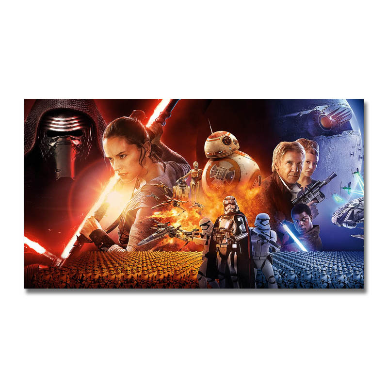 Star Wars The Last Jedi Movie Silk Poster 13x24 24x43 inch