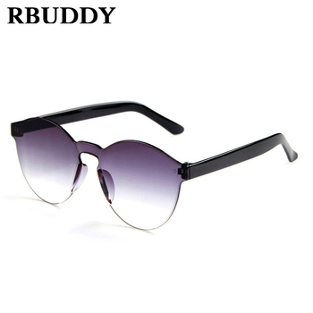 RBUDDY Mirror Children Square Sunglasses Rimless Oval sun glasses for boy girls