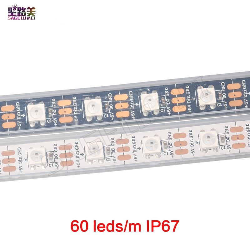 1m / 5m DC5V individuellt adresserbar ws2812b ledad remsa ws2811ic - LED-belysning - Foto 2