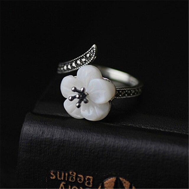 Lotus Fun Real 925 Sterling Silver Natural Handmade Creative Designer Fine Jewelry Exclusive Flower Vintage Female Rings Bijoux