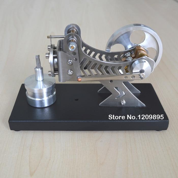 Stirlingmotormodel Klassieke vacuümmotor Zwarte wetenschap en - School en educatieve benodigdheden - Foto 3