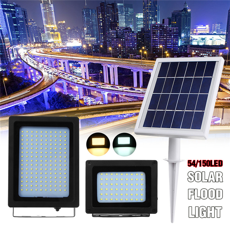 Smuxi LED Solar Floodlight Waterproof IP65 Outdoor Emergency Security Garden Solar Power Street Flood Light White Warm White smuxi 24w 6500k white 3300k warm white led road street flood light garden lamp outdoor yard security ip65 energy conservation