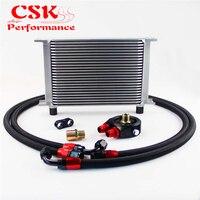 25 linha 248mm an8 universal motor de transmissão refrigerador óleo tipo britânico + alumínio filtro mangueira final kit prata