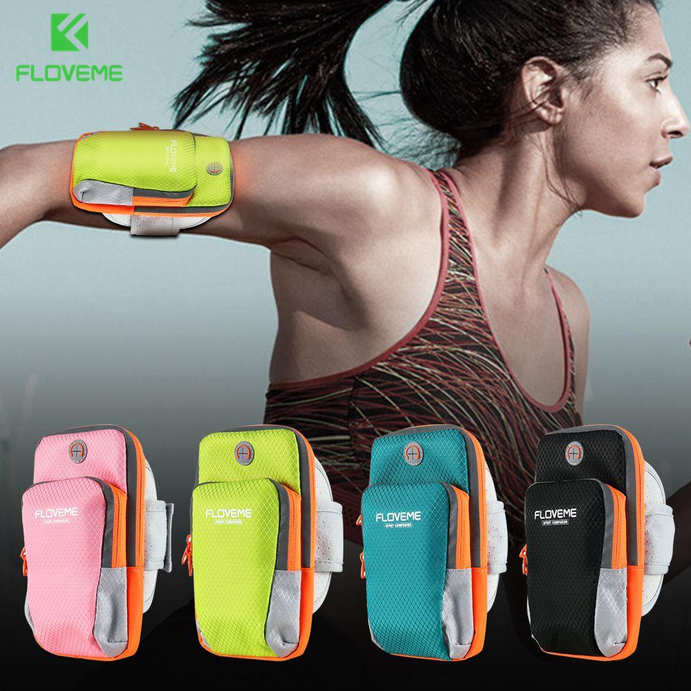FLOVEME 5.5 Universal Armband For iPhone 7 7 Plus 6 6s Plus Sports Running Armband For iPhone 8 8 Plus X Phone Bags Capa