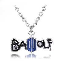 Hot Film DR Doctor Who Schlechte Wolf Emaille Metall Anhänger Halskette TARDIS Manchem Whovian Halskette