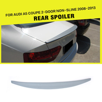 PU Unpainted Car Rear Trunk Spoiler Auto Boot Lips Sticker Wing For Audi A5 Coupe 2Door 2008 2013