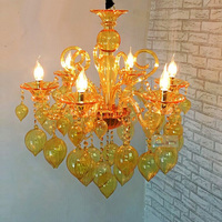 Океанический Средиземноморский стиль Современная красочная подвесная люстра лампы синий фиолетовый красный желтый стеклянный светильник