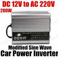 Car voltage Transformer 200W Car power Inverter converter DC 12V to AC 220V USB Port modified sine wave
