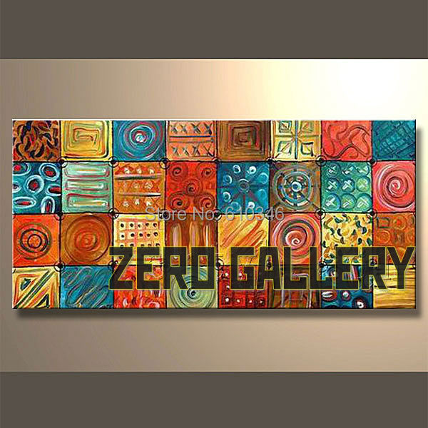 One panel abstract hand painted islamic canvas oil paintings famous artist discount wall art home decor