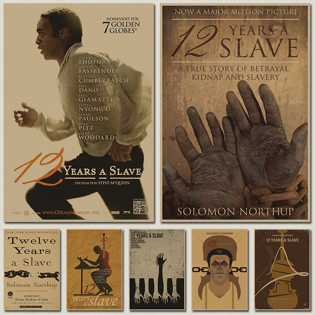 retro movie posters 12 years a slave kraft paper comics drawing core