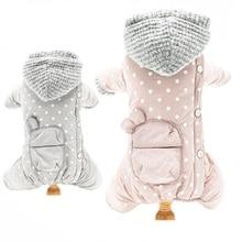 Купить с кэшбэком 2018 Hoodies four-legged Pet Jumpsuit Dog Clothes winter clothing Coat Autumn Clothes for Small Medium dogs Pet Pruducts Teddy