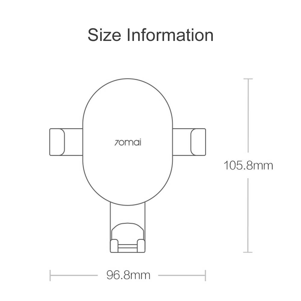 Xiaomi 70mai Qi bezprzewodowa ładowarka samochodowa do iPhone Xs Max XR X Samsung inteligentny czujnik szybko 70 mai bezprzewodowy uchwyt ładowarki w samochodzie