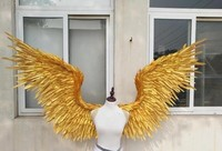 2017 new style gold festival Angel Feather wings Window props underwear catwalk Golden angel wing props catwalk show props