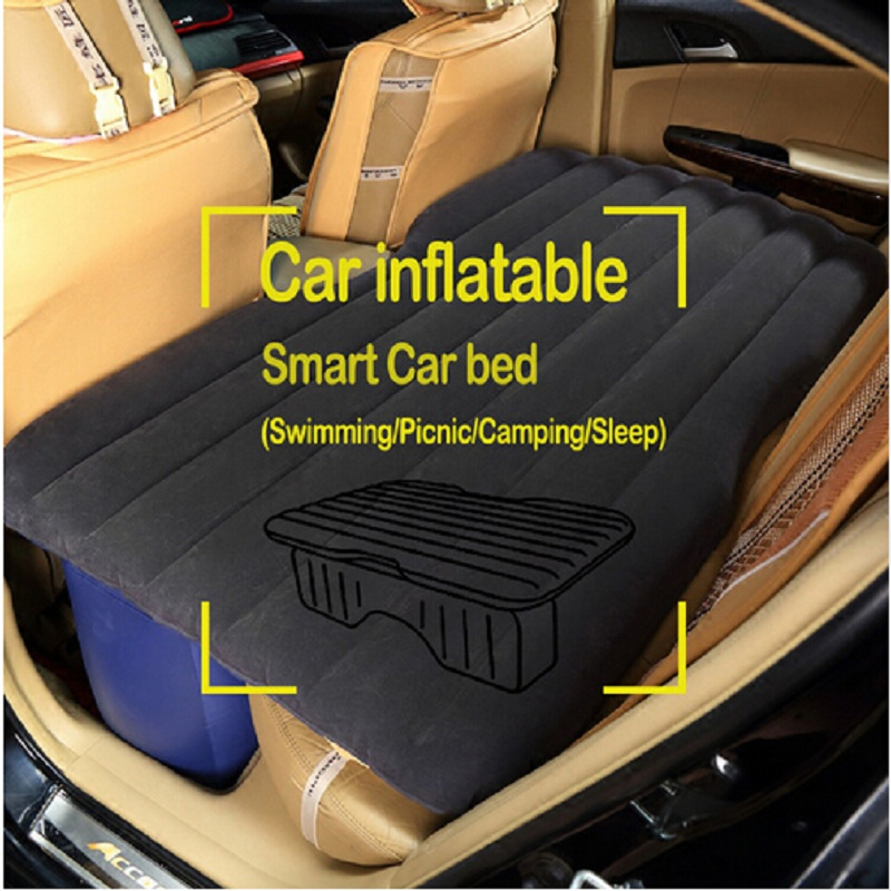 car acessories travel inflatable air mattress bed Camping Back Seat Extended Cushion flocking Inflatable seat free shipping