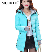 MCCKLE Fashion Winter Jacket Women Cotton Long Slim Hooded parka mujer Female Casual winter coat Plus Size New chaqueta mujer