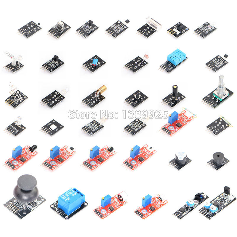 Free Shipping Ultimate 37 In 1 Sensor Module Kit For & Raspberry Pi With The Box