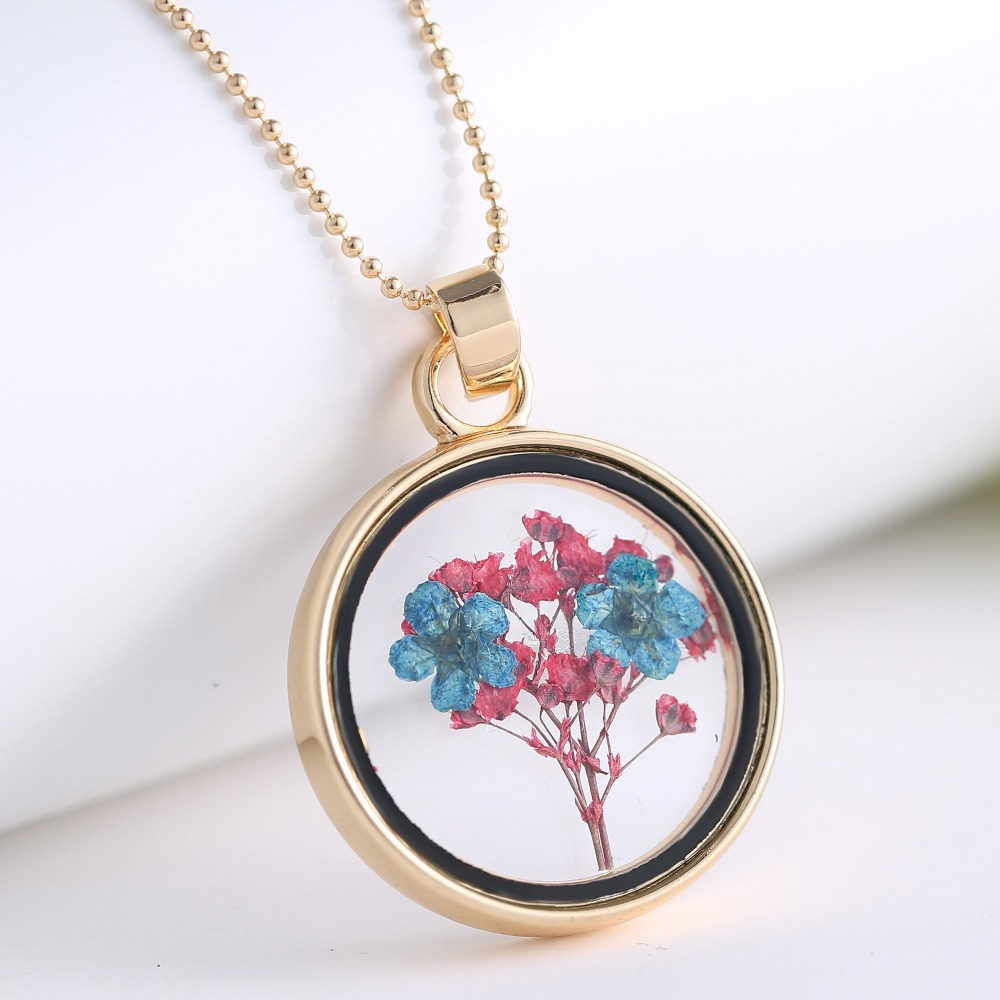 Boutique women flower jewelry real dried flower glass pendant boutique women flower jewelry real dried flower glass pendant necklace memory locket necklaces pendant charm jewelry for gifts in pendant necklaces from aloadofball Image collections