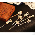 2014 Fashion Flower Hair Accessories Simulated Pearl Crown Bow Hair Clip  Barrettes For Women  F086