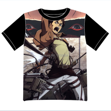Envío Gratis Anime Shingeki ningún Ataque Kyojin en Titán Manga T-shirt Las Mujeres de Los Hombres Cosplay Camiseta de Malla Negro Tee 003