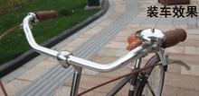 Guidão vintage de bicicleta com alça de alumínio, guidão de bicicleta de rua city, 22.2*25.4, pegadores de bicicleta