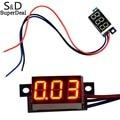 Mini 0-100 V DC Tensão Digital Medidor de Painel DC LED Vermelho Voltímetro Digital DC Voltage Meter Monitor