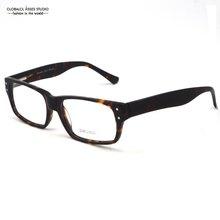 Hot UNISEX Vintage Demi Brown HUGE Shape Acetate Flexible Spring Hinge Optical Glasses/Retro Full-frame Eyeglass 25BG23023
