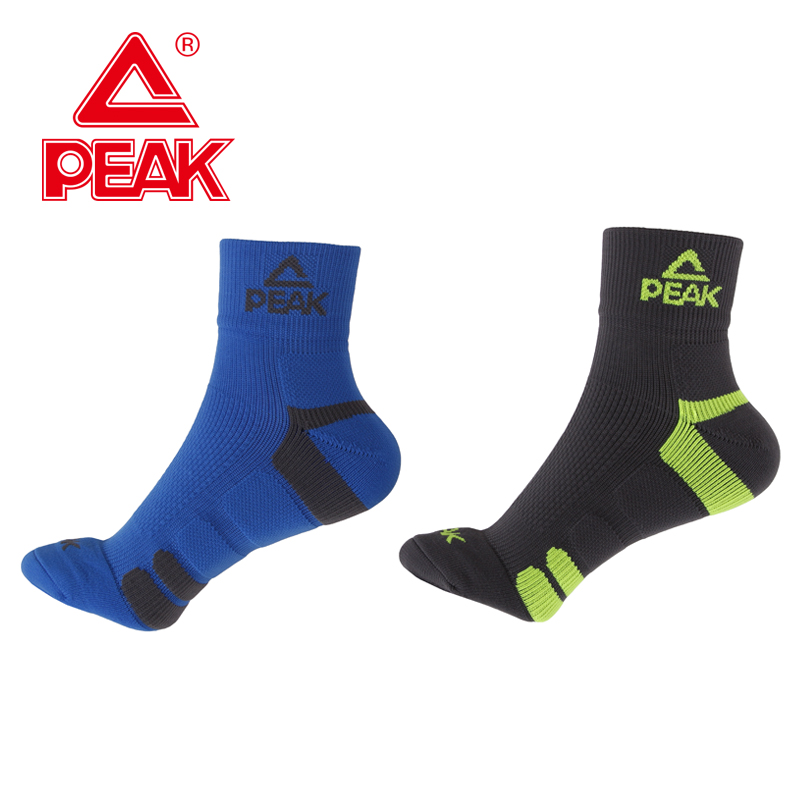 PEAK Men's Brand Socks Sport Socks Running Socks Quick Dry Breathable Warm Absorb Sweat Antibacterial For 4 Season