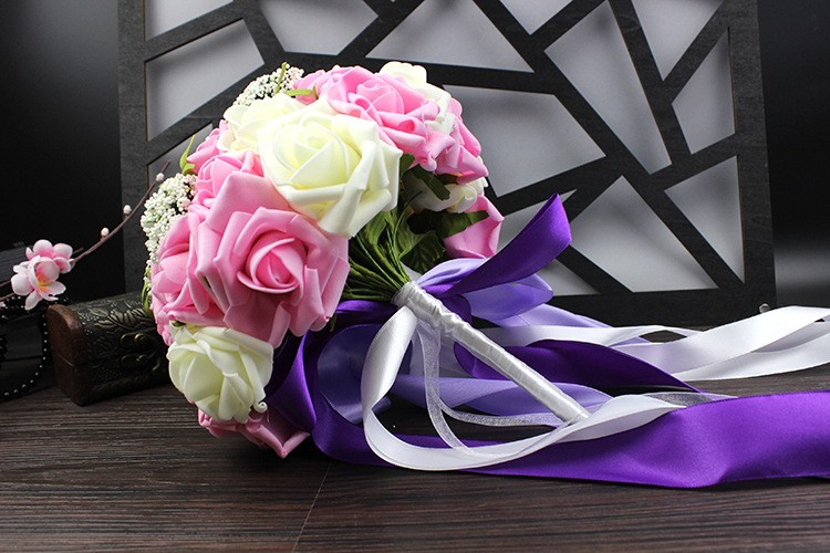 Wedding Bouquet de mariage Bridal Bouquet Wedding Bouquet Bridesmaid Artificial flower Boeket buques de noivas Bruidsboeket (13)