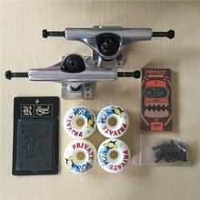Skateboard Parts Blank Aluminum 5.25″ Skateboard Trucks And Wheels PU 51mm/52mm And ABEC-7 Bearings