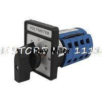 Universal 3 Phase Rotary Voltmeter Cam Selector Switch