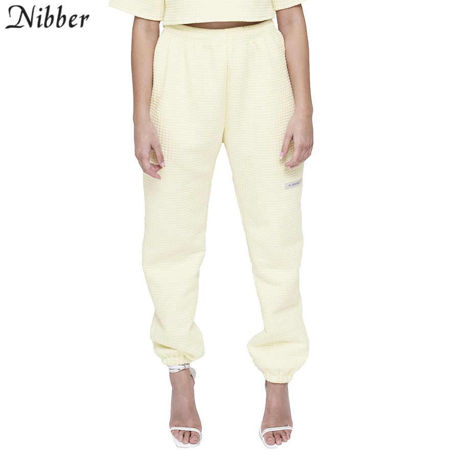 Nibber 2019 סתיו אופנה לבן Loose מקרית הרמון מכנסיים אופנה streetwear רחב רגל מכנסיים Harajuku פראי Slim רך מכנסיים mujer