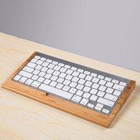 SAMDI Bamboo Craft với Apple Bluetooth Bàn Phím Không Dây Đứng Dock Giữ Cho iMac, Mac Pro, Máy Tính để bàn