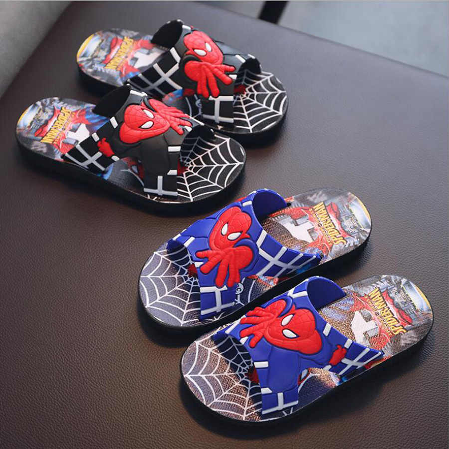 3dc713a99 Children Slippers Spider man Boys Shoes Spiderman Boys Sandals Fashion Kids  Slippers home Shoes Beach Slippers