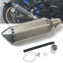 Motorcycle Exhaust pipe Muffler Escape DB-killer 36MM-51MM FOR KAWASAKI ZX12R ZX6R ZX636R ZX6RR ZX9R ZZR600 H2 ZZR VULCAN