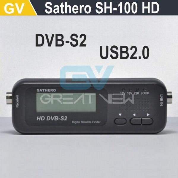 SH-100 Sathero SH 100 Bolso HD Localizador de Satélite Digital HD Sinal Sat Finder Medidor de Satélite HD com DVBS2 USB