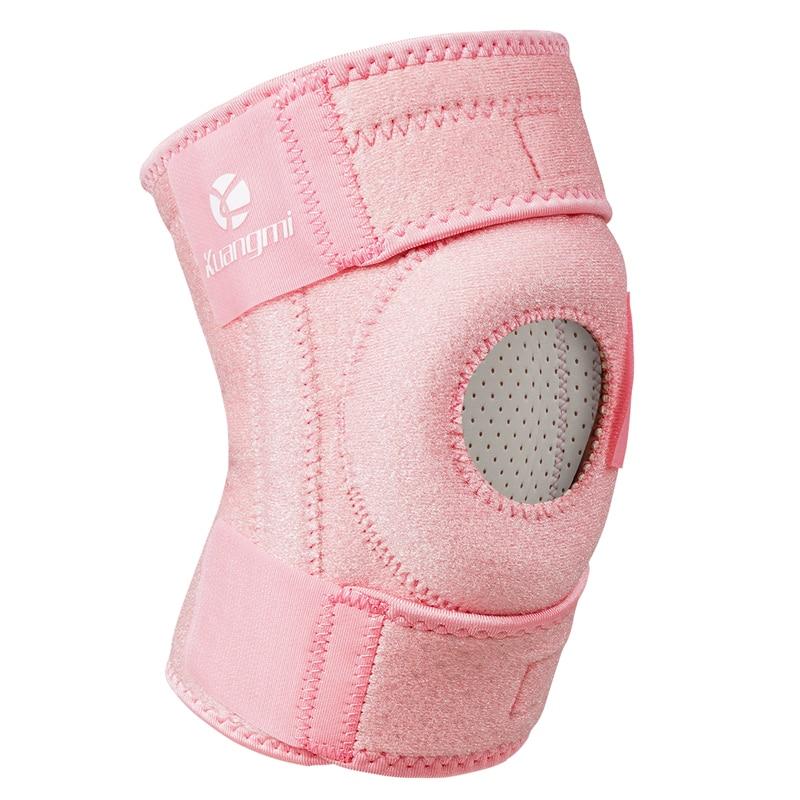 Kuangmi 1 pz Regolabile Aperto Rotula del Ginocchio Brace Support Wrap Protector Pad Sleeve per L'artrite Menisco Lacrima ACL Corsa e Jogging