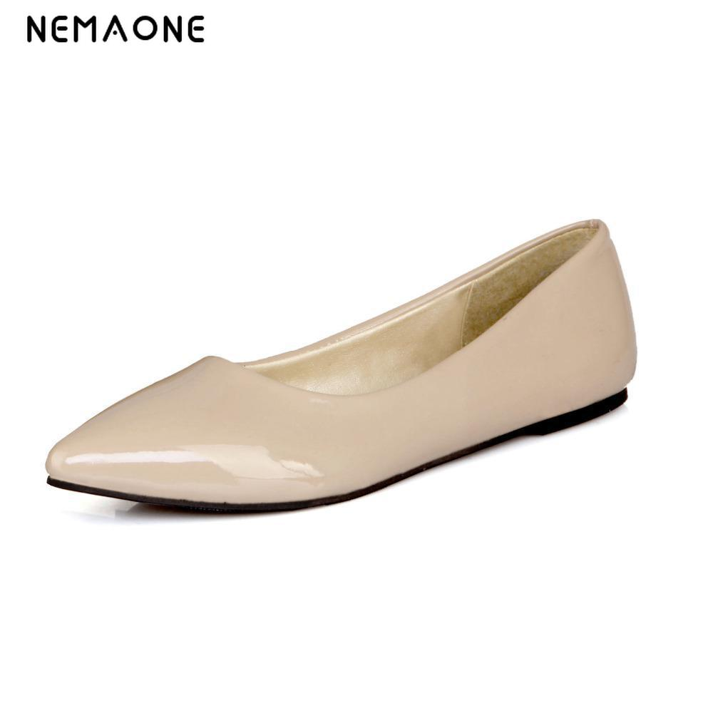 fashion women shoes woman flat shoes high quality comfortable pointed toe women sweet flats hot sale shoes size 35-43 new listing pointed toe women flats high quality soft leather ladies fashion fashionable comfortable bowknot flat shoes woman