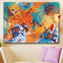 jackson pollock Abstract Art Canvas Painting Embrace the Warmth Wall art On canvas printed no framed