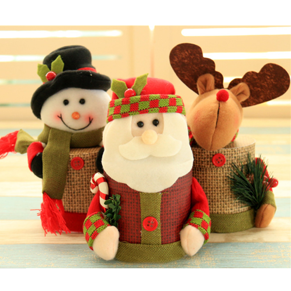 1pc Cute Storage Supply Christmas Candy Sugar Storage Box Bins Divider Closet Organizer Dinner Table Decoration Cookie Chocolate