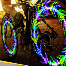 LEADBIKE Wheel Spokes Bike Light Bicycle Accessories Fietslamp Led Velo 28 Patterns Flashlight For Cycling Fahrradlicht Luz Bici(China)