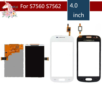 For Samsung Galaxy Trend S7562 GT-S7562 GT-S7560 S7560 GT-S7560M S7560M LCD Display With Touch Screen Digitizer Sensor Replaceme lychee grain style protective abs back case for samsung galaxy trend duos s7562 s7560 white