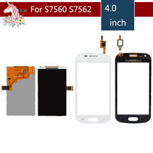 For Samsung Galaxy Trend S7562 GT-S7562 GT-S7560 S7560 GT-S7560M S7560M LCD Display With Touch Screen Digitizer Sensor Replaceme